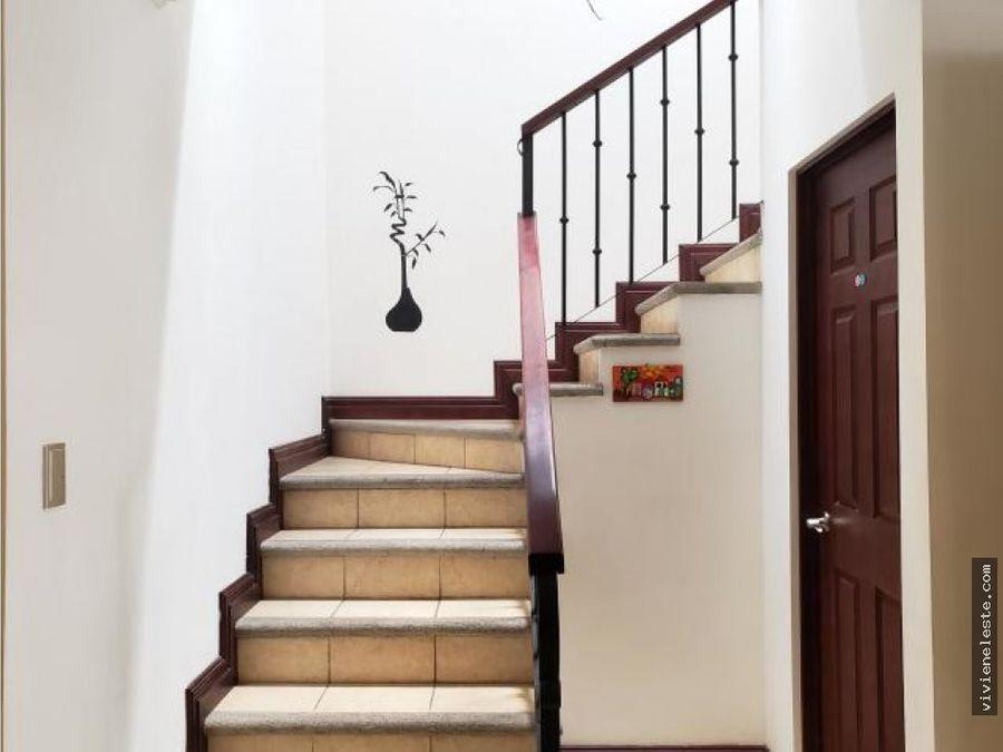 venta de casa en condominio hacienda las palmas santa ana