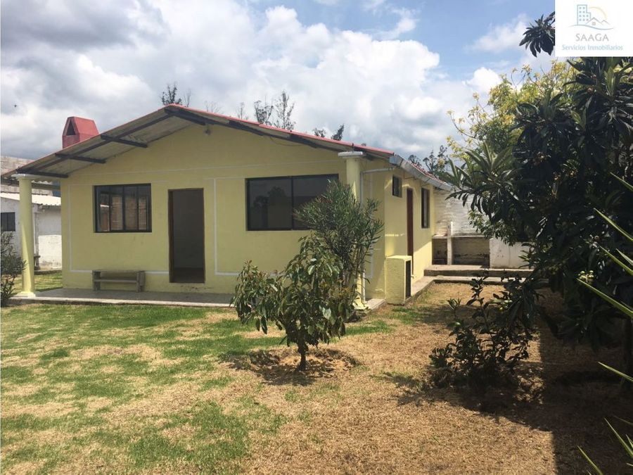 venta o renta bonita y acogedora casa en puembo