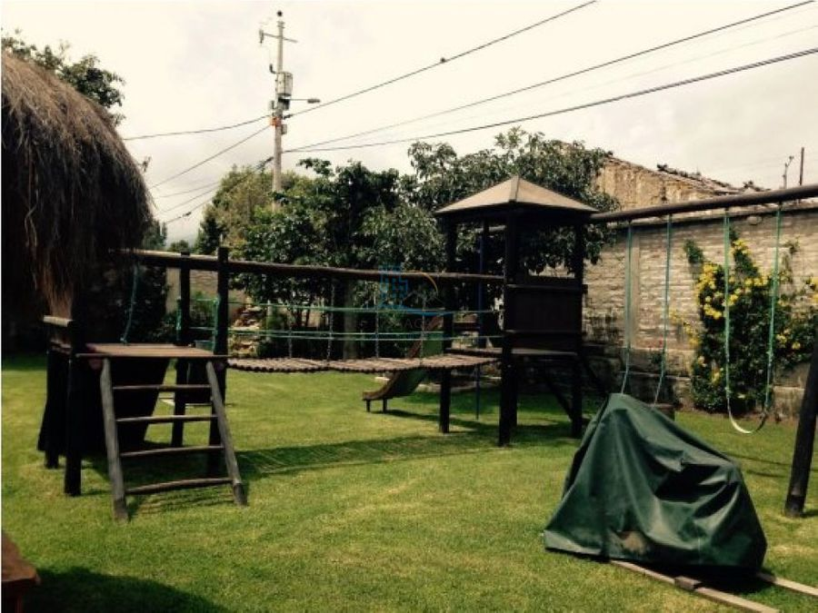 terreno de venta con quinta amoblada puembo