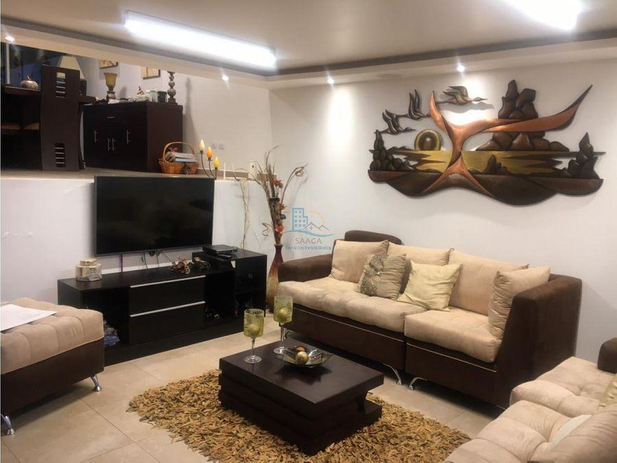 casa en venta tumbaco conjunto con seguridad