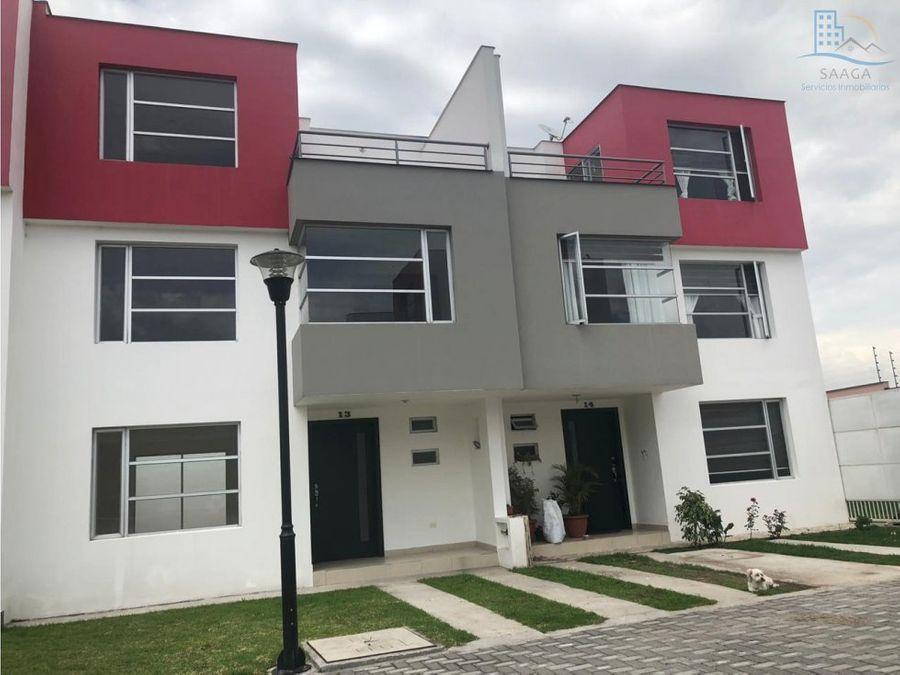 hermosa casa a estrenar de venta en sangolqui