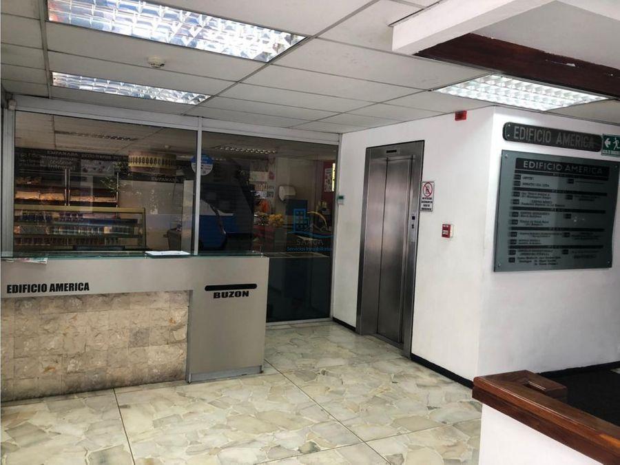 amplia oficina de venta edificio ubicado en la av america y asuncion