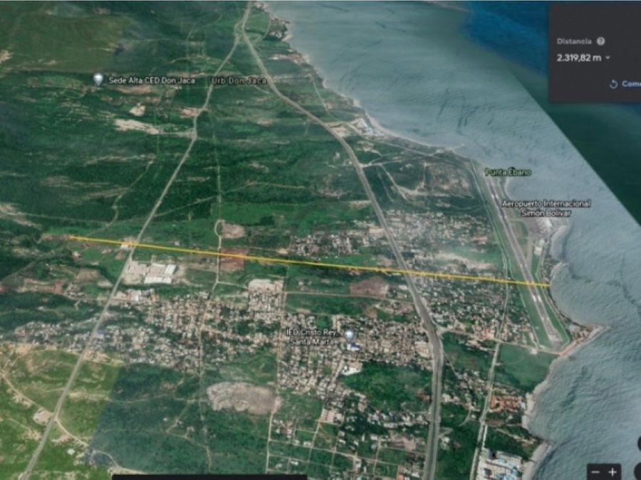 lote 216 mt2 con vista al mar santa marta colombia