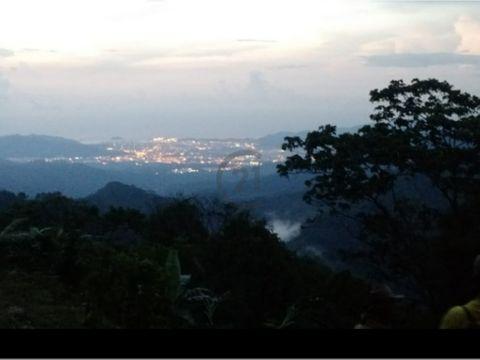 se vende lote 6640 mt2 vista a la ciudad minca santa marta colombia