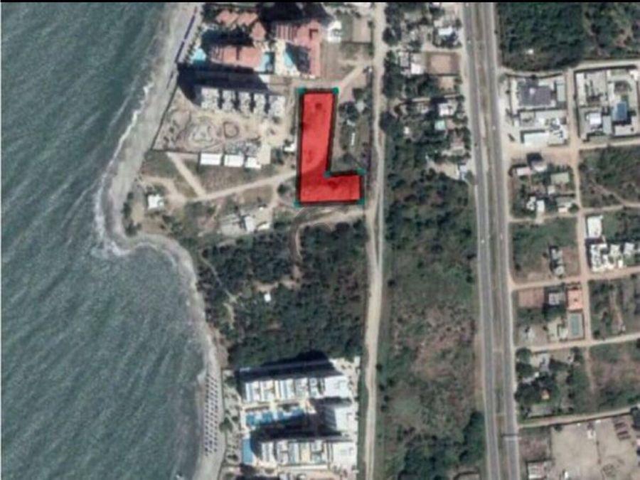 se vende lote 1040 mt2 frente al mar para proyecto inm