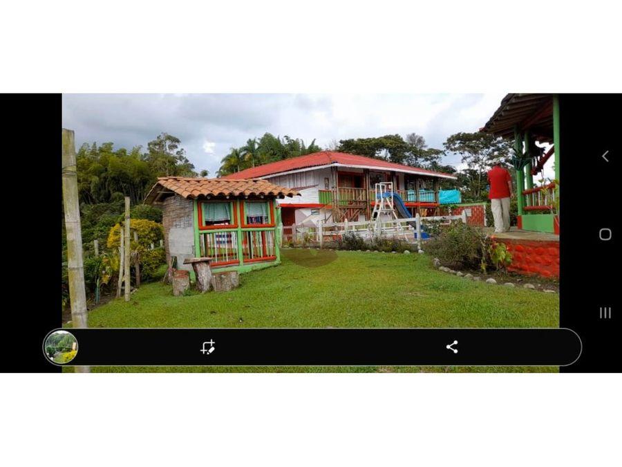vendo casa lote campestre en las partidas quimbaya quindio