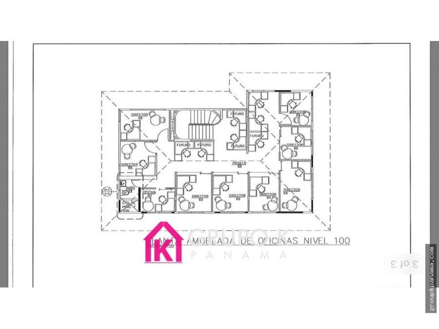 alquilo casa comercial obarrio 1035mts2