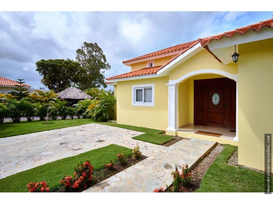 villa amueblada en sosua ocean village