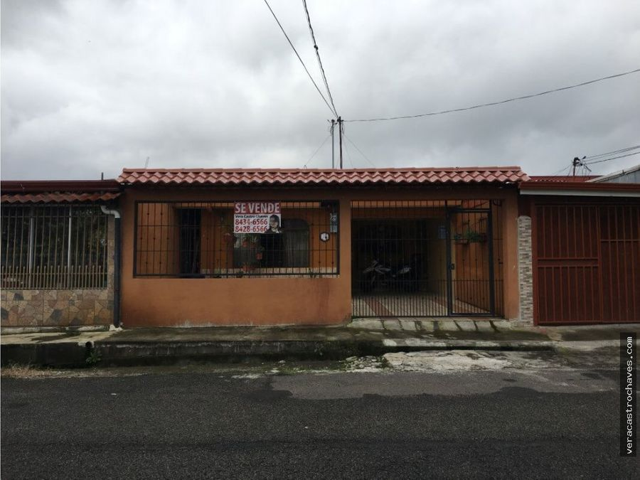 vendo casa villa elia rio segundo alajuela