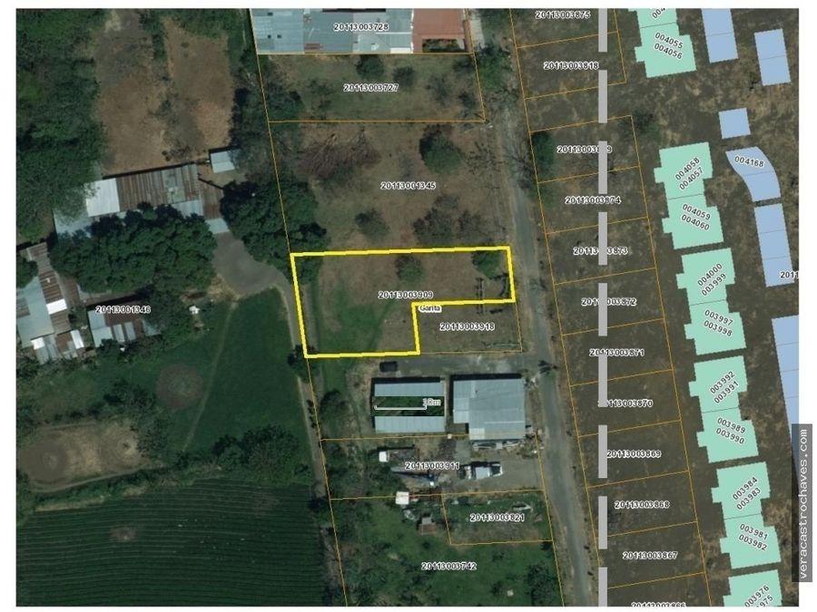 venta lote residencial alta densidad 1 km de zona franca coyol
