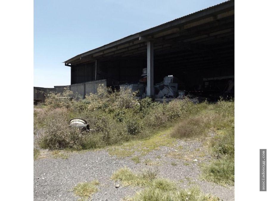 terreno con bodega de 4 800m2 venta cuautitlan i