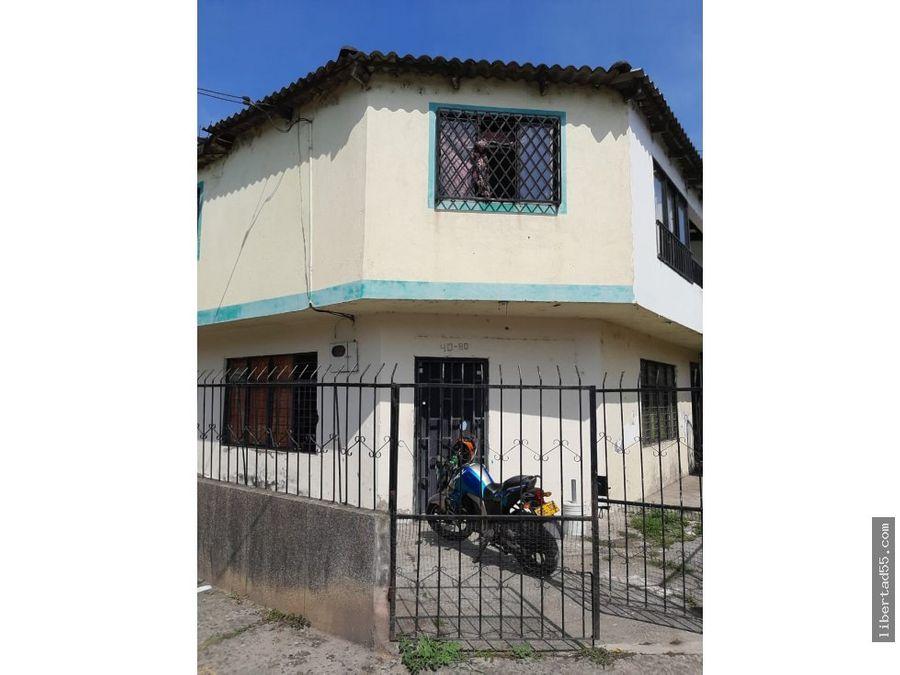 venta permuta casa de 2 piso union de vivienda popular cali