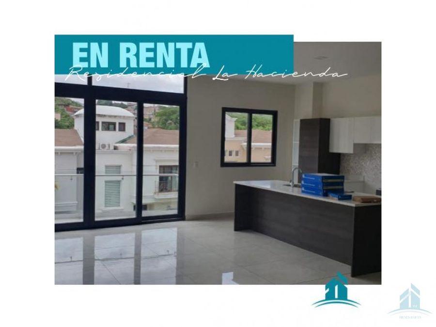 apartamento en renta residencial la hacienda