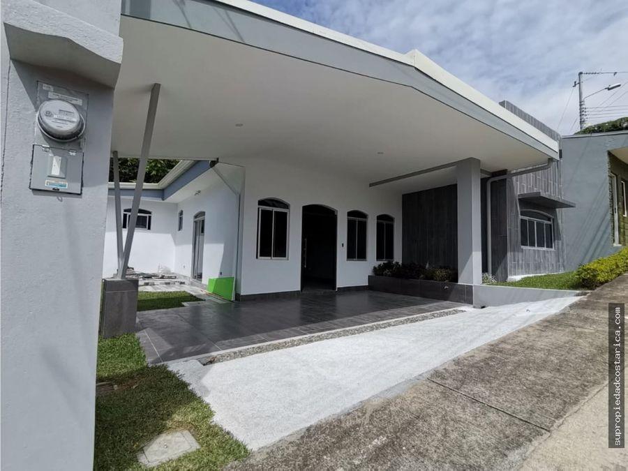 casa nueva de una planta heredia