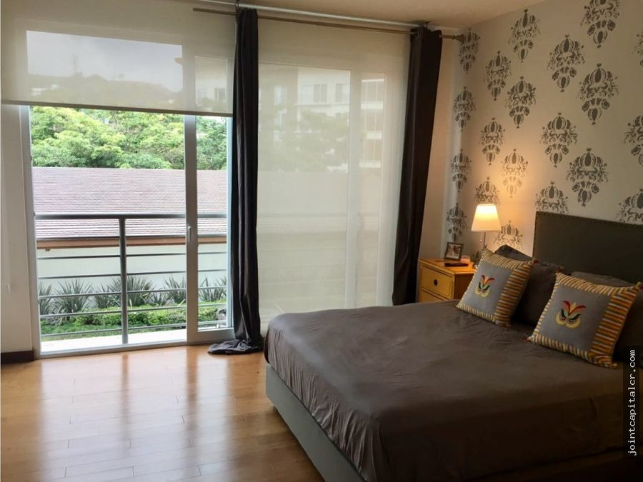 apartamento 2 habitaciones amueblado en condominio escazu