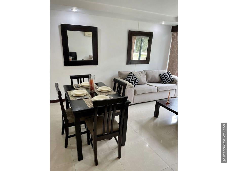 alquiler apartamento 2 habitaciones amueblado condominio en escazu