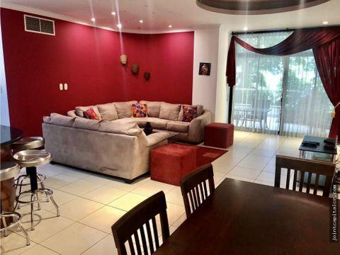 alquiler apartamento 3 habitaciones amueblado condominio en escazu