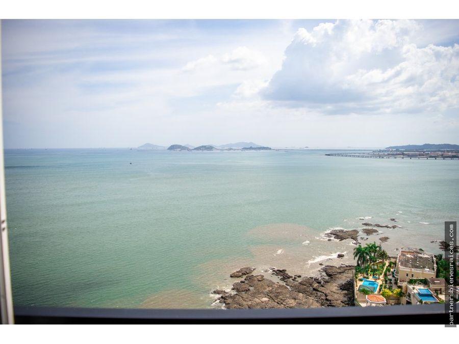 venta de apartamento frente al mar punta paitilla