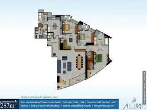 alquiler de apartamento en allure full amoblado