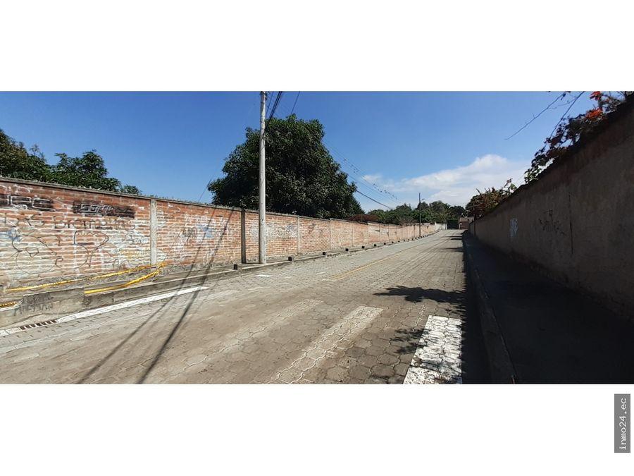venta terreno uso residencial villa vega tumbaco quito