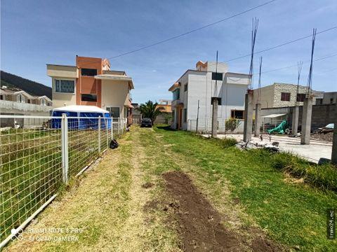 en venta terreno urbanizado sector mirasierra valle de los chillos