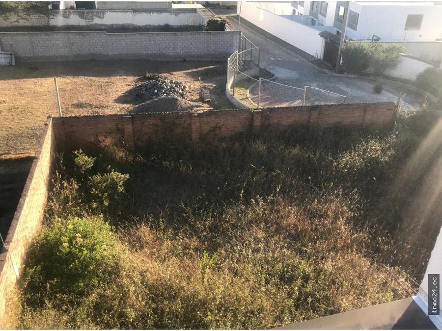 en venta terreno el arenal tumbaco
