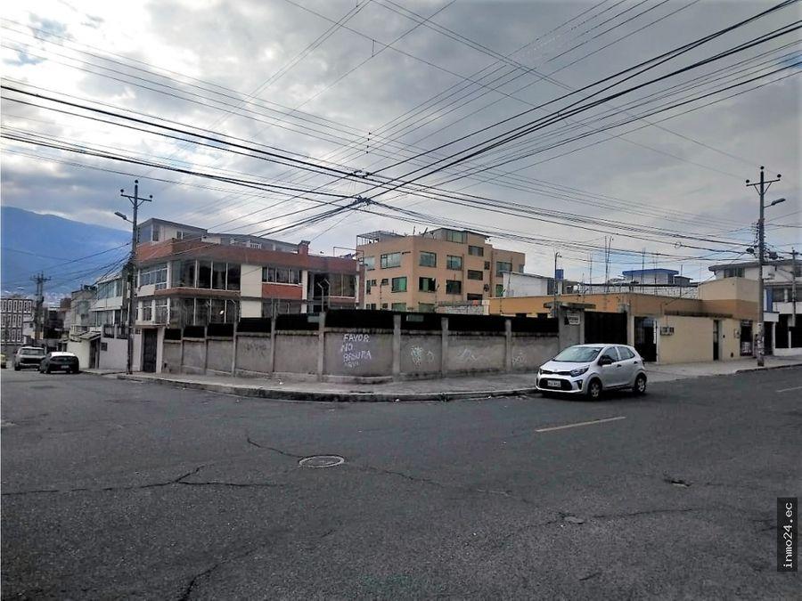en venta terreno esquinero uso residencial kennedy norte quito