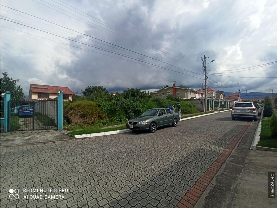 venta terreno urbanizacion portal de la hacienda los chillos