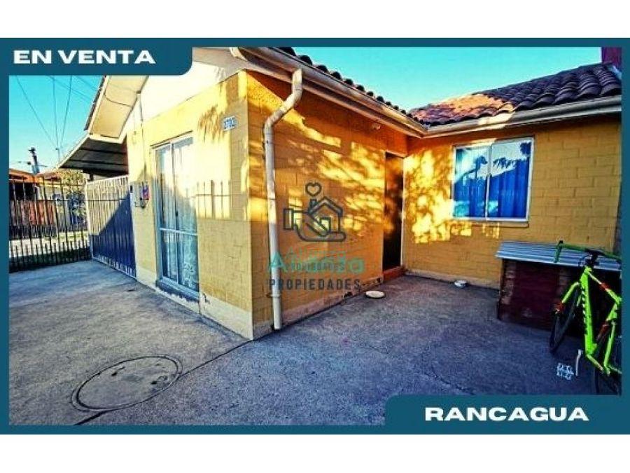 casa en venta en villa florencia en rancagua