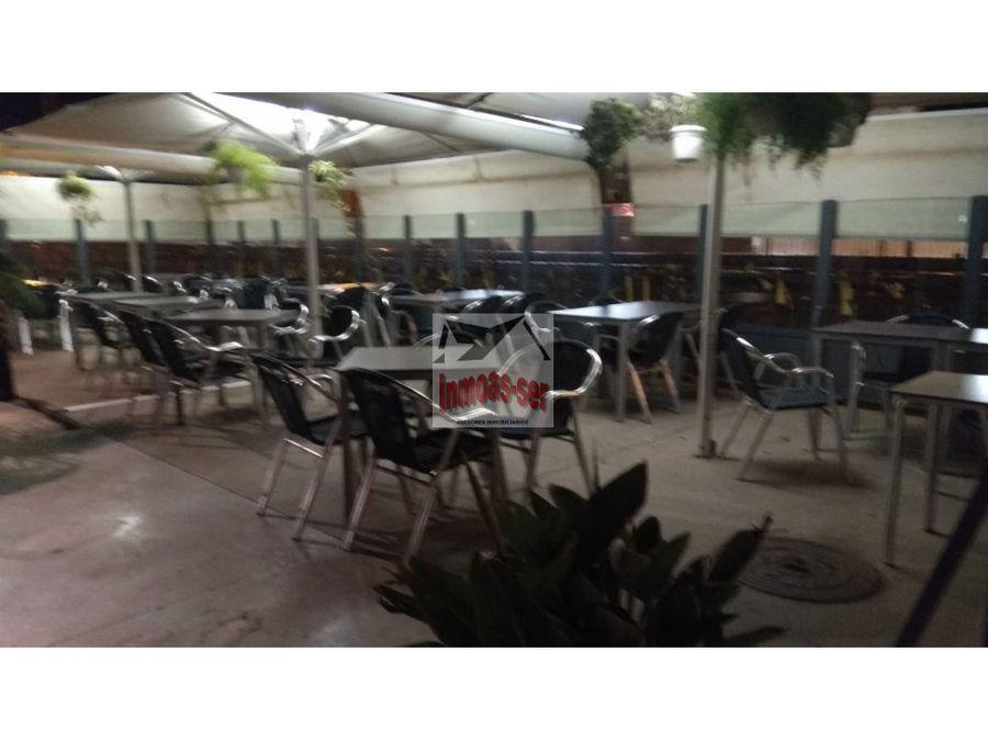 traspaso restaurante c3 con terraza en badalona