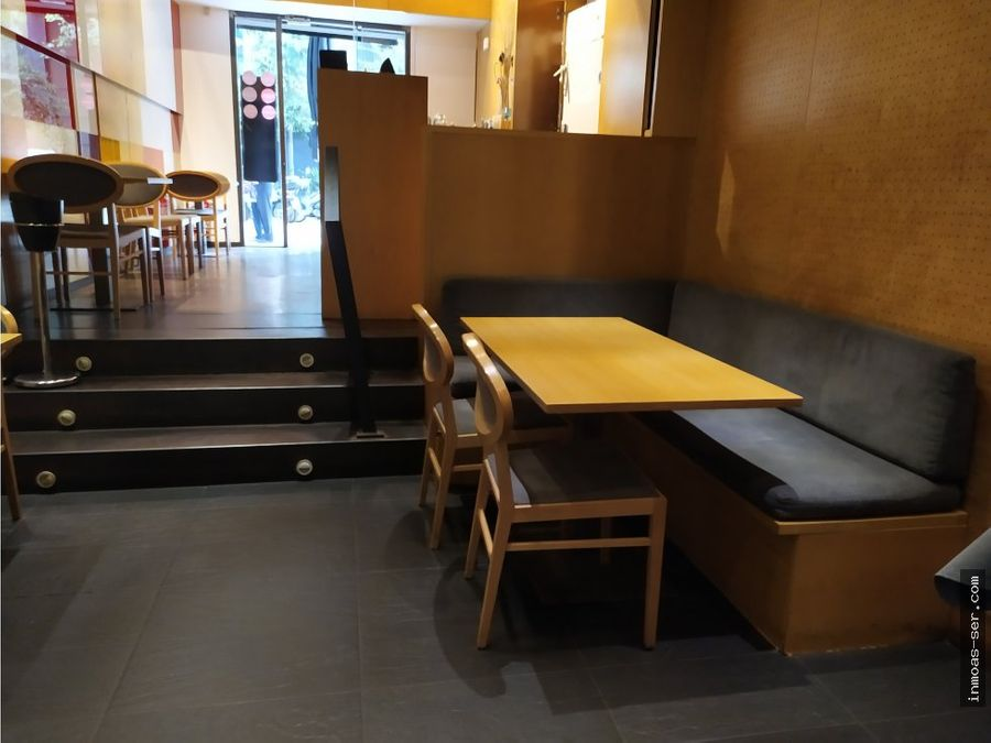 traspaso restaurante c3 en leixample con terraza
