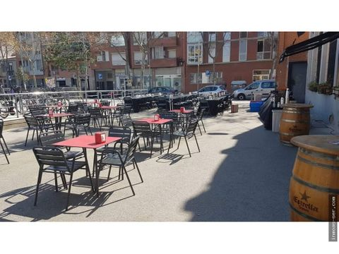 traspaso restaurante c3 en poble nou terraza espectacular