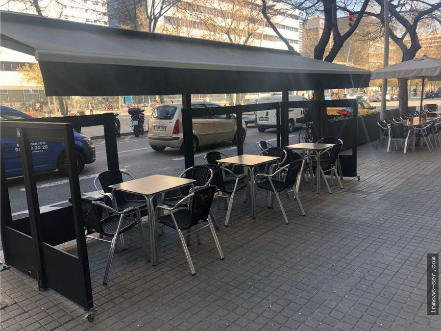 traspaso bar c2 en 22 at con terraza y salida de humos barcelona