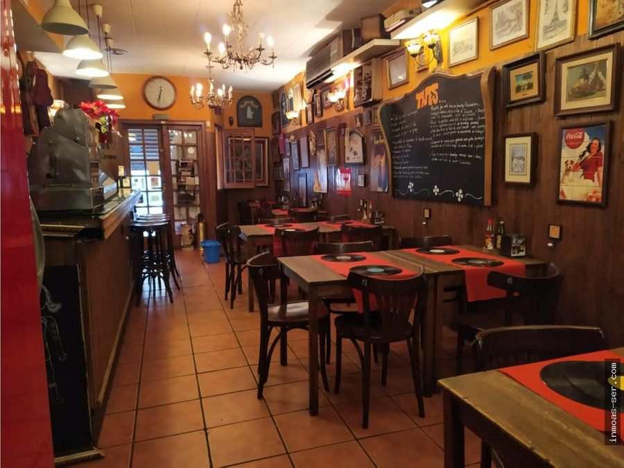 traspaso restaurante c3 en el clot barcelona