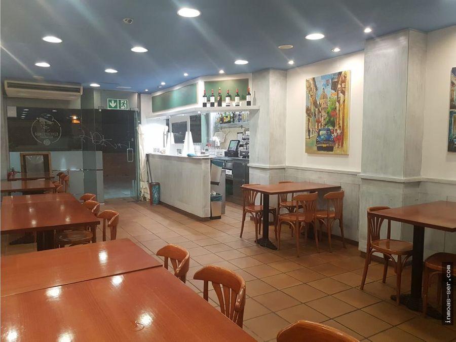 traspaso bar restaurante c3 en la illadiagonal con terraza