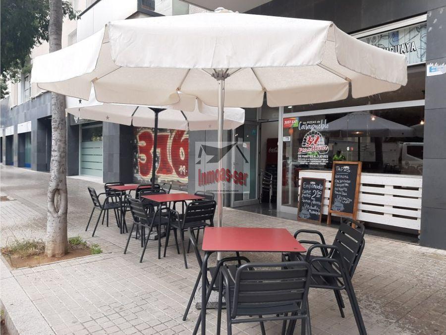 traspaso pizzeria c 2 con terraza en poblenou barcelona