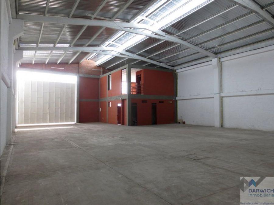 bodega de 500 m2 en zona industrial de palmira