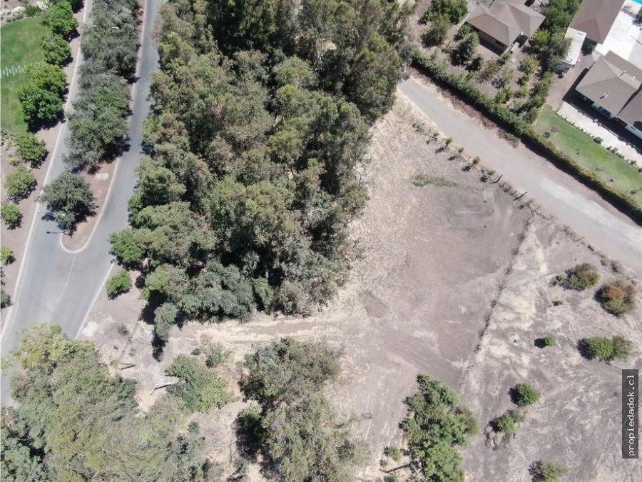parcela en hacienda de chicureo 6200 m2