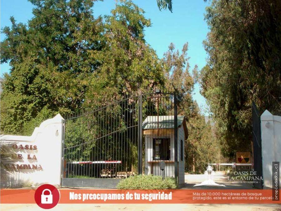 parcela reserva ecologica oasis de la campana 8000 m2 aprox