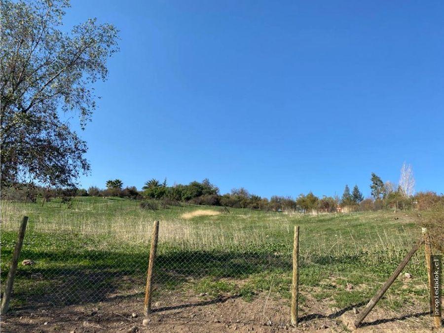 parcela en hacienda de chicureo 5000 m2