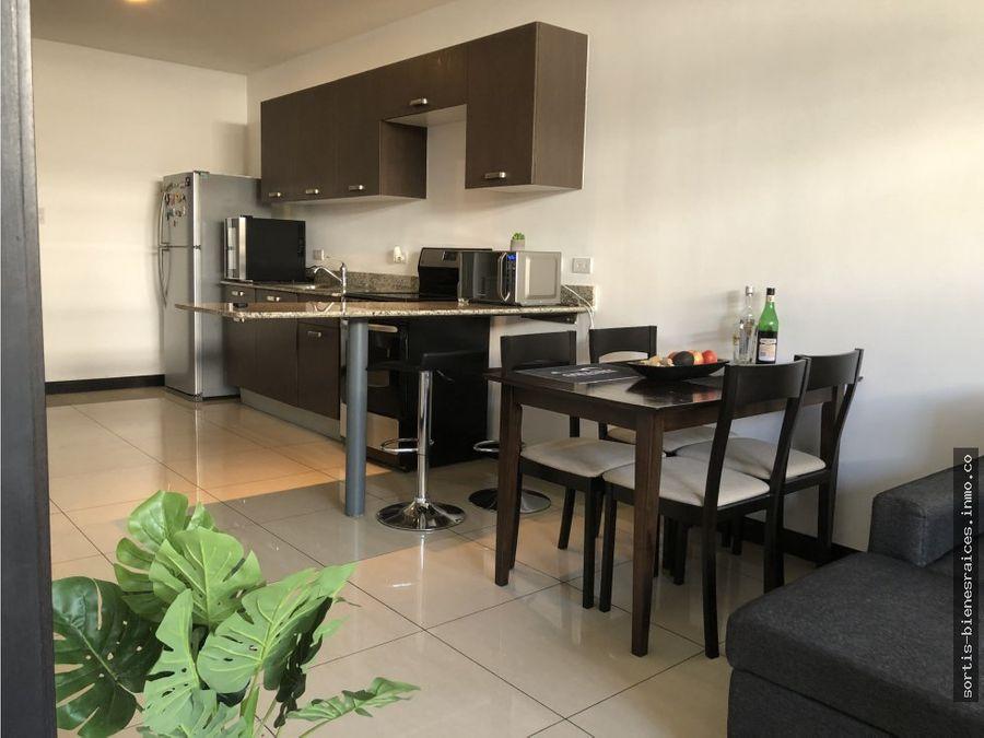 venta apartamento amueblado en pozos santa ana