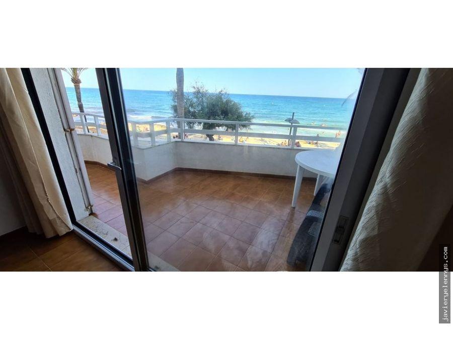 precioso piso vistas al mar en primerisima linea de playa cala millor