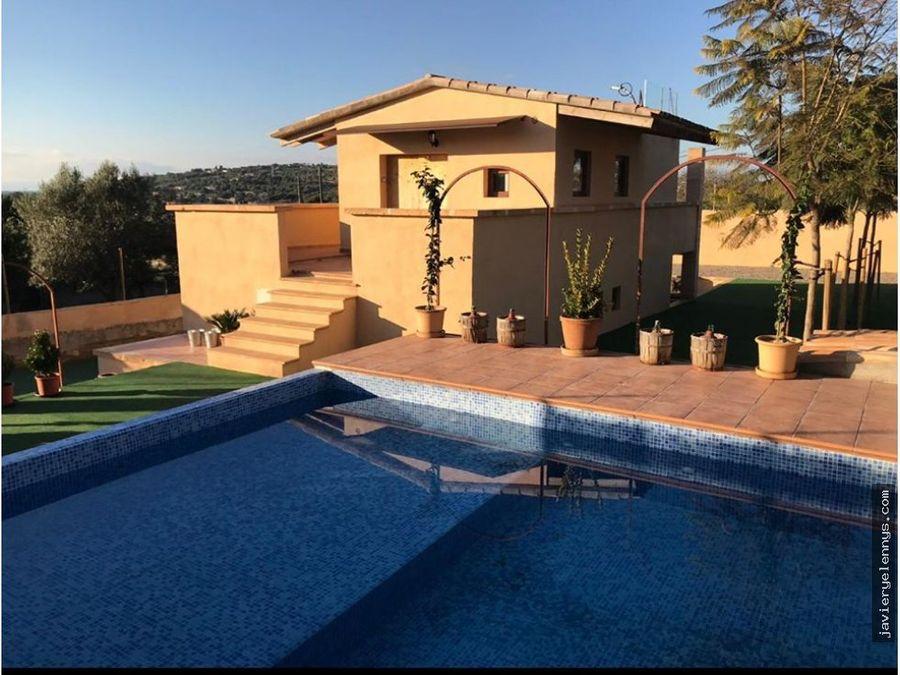 bonita parcela con preciosa vivienda mas piscina
