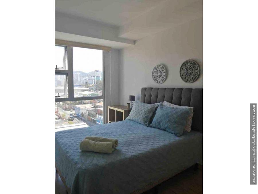 apartamento amueblado en edificio cityhaus zona 10