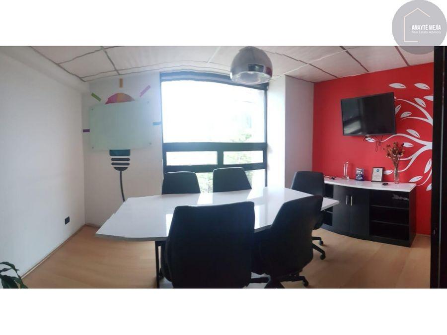 oficina en renta edificio torre cristal zona 9