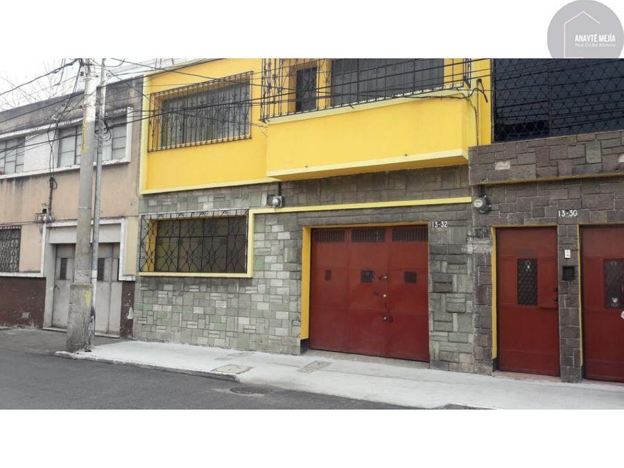 casa en renta centro historico zona 1