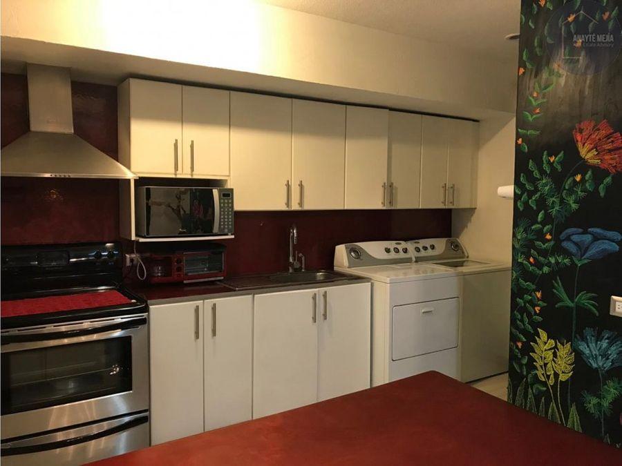 apartamento tipo loft en renta en condominio vista al bosque zona 15