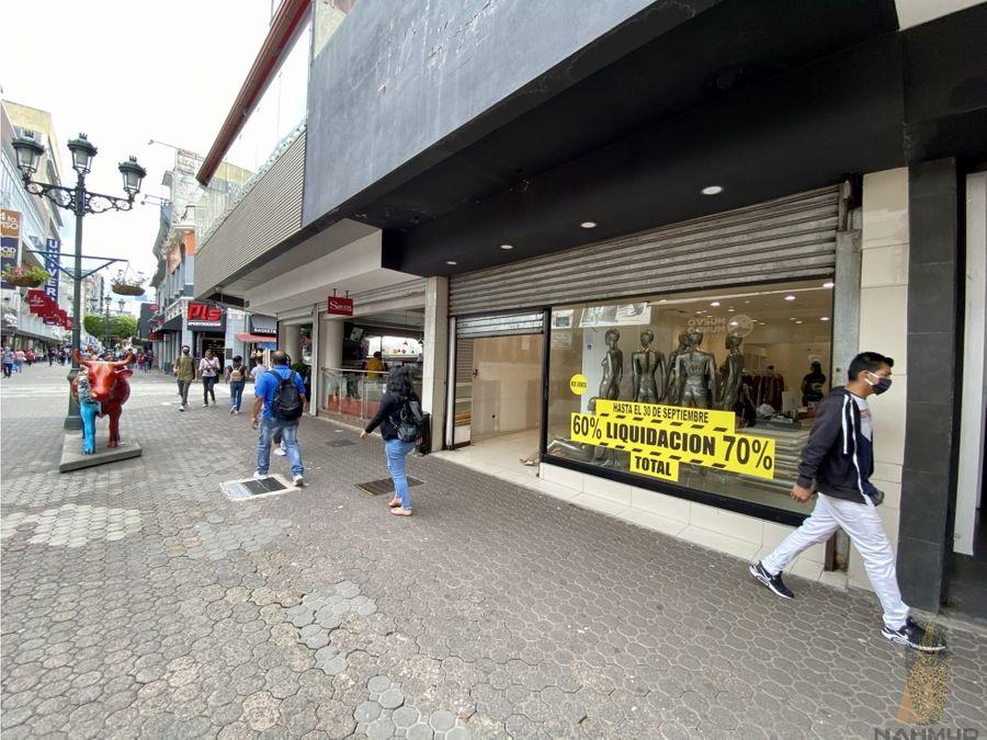 se alquila local comercial en avenida central san jose