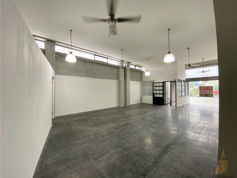 oficinas tipo loft en alquiler en rohrmoser