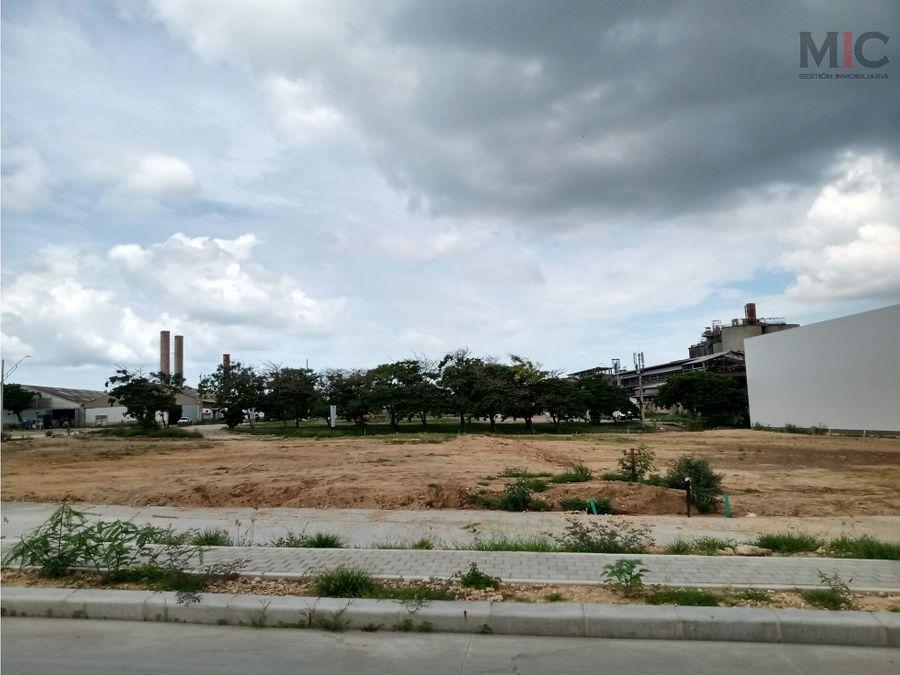 vendo lote en norte de barranquilla parque industrial
